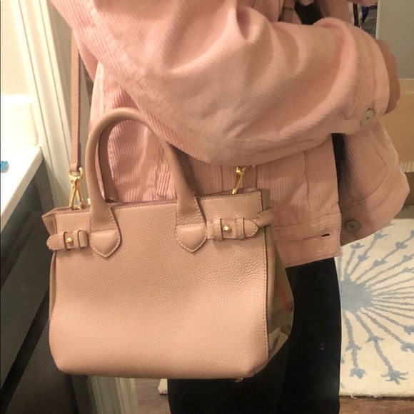 0c05b40191d Burberry Bags   Small Pink Banner Bag In Leather   Poshmark